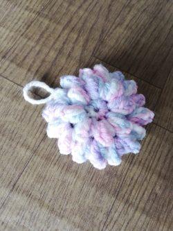 エコたわし,アクリルたわし,ハンドメイド,ポップコーン編み